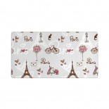 Eiffel Heart Fashion City Girlish Print Mouse Pad 15.8x29.5 in Pad Mat Laptop Gaming Home Office Computer Accessories Rectangle Non-Slip Rubber Mousepad,Suitable for study 03.cm x 40cm x 75cm