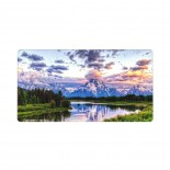 Grand Teton Snowy Mountains Lake Tree Landscape Mouse Pad 15.8x29.5 in Pad Mat Laptop Gaming Home Office Computer Accessories Rectangle Non-Slip Rubber Mousepad,Suitable for personal computer 03.cm x 40cm x 75cm