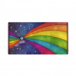 Rainbow Color Star Mouse Pad 15.8x29.5 in Pad Mat Laptop Gaming Home Office Computer Accessories Rectangle Non-Slip Rubber Mousepad,Suitable for game 03.cm x 40cm x 75cm